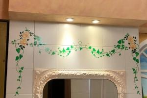 Decorazione maioliche Bagno