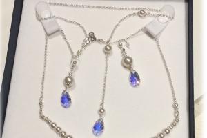 Collana e Orecchini da sposa in argento